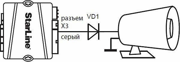 Монтаж диода при установке сигнализации