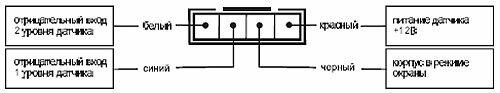 Подключение 4-контактного разъема датчика удара
