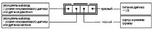 Подключение 4-контактного разъема дополнительных датчиков