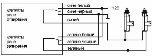 Схема подключения к двухпроводным приводам